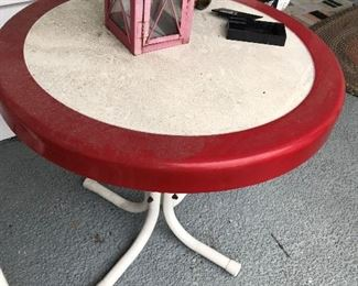 Vintage Metal Table $ 58.00