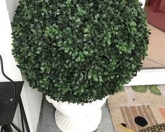 Concrete Topiary (plastic plant) $ 42.00