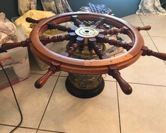 Ship Wheel Decor on Ship Light $ 188.00