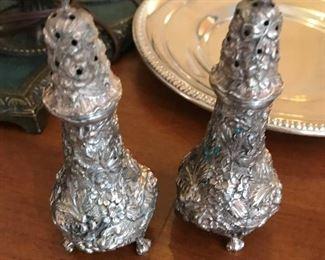 Sterling  Salt / Pepper Shakers $ 50.00