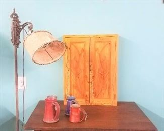 Lamp Table Flower Painting