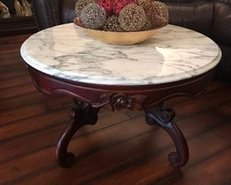 Marble top coffee table 32 x 18.5