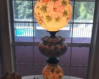 """Beautiful three globe Parlor lamp! 37"""" tall"""