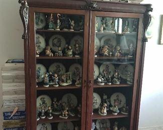 Antique curio  65 t x 47.5 w x 13 d , Huge Hummel Collection