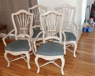 5. Four 4 Upholstered Armchairs