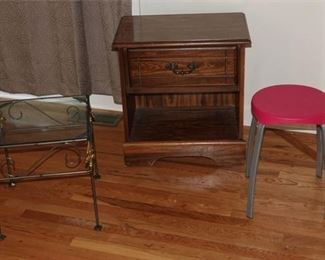 7. Nightstand, Small Table, and Stool