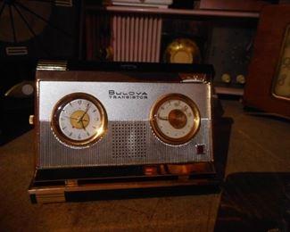 Vintage Bulova Transistor with original Box, Tags