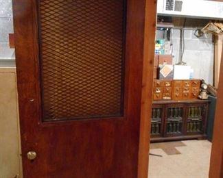 Vintage  Oak Lattice Door From CPS Maintenance Board of Ed