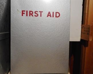 Vintage First Aid Wall Mount 1963
