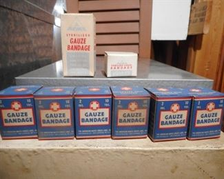 Vintage First Aid Bandages per box