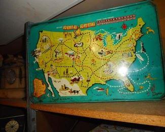 Vintage Metal  State Tray Game