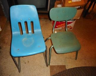 Vintage School Desk Chairs
