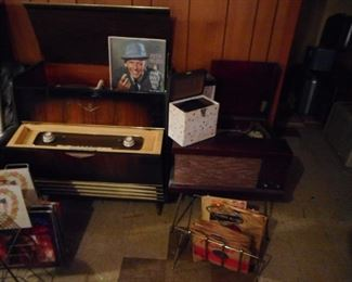 Grundig with Mid Century Record Stands