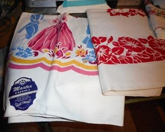 Vintage Printed Table Linens some with Original Tags Never used