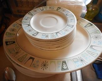 Mid Century Dinner ware..In Basement