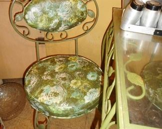 Vintage Wrought Iron Side Chairs