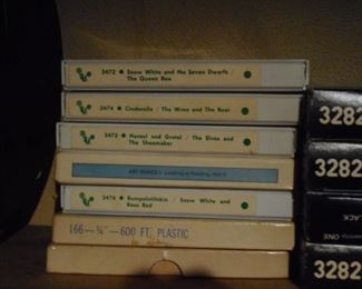 These are REEL TO REEL Stories on TAPE..SOLD AS SET