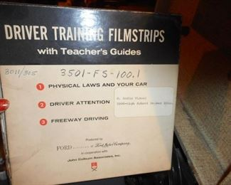 Driver Training Film Strips..Used for High School Drivers ED