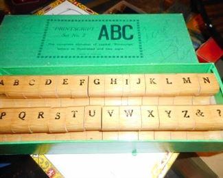 Vintage ABC Printing Blocks