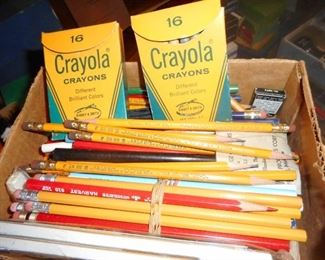 Vintage School Supplies.. Remember Yellow #2 Pencil? or The Dreaded RED PENCIL..that marked your papers?!!