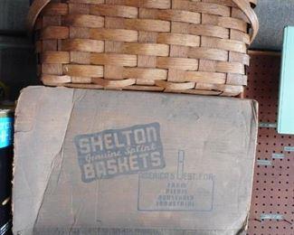 Vintage Shelton Basket with Box
