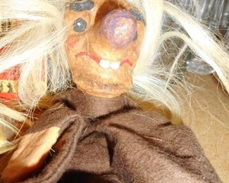 This is creepy...but its a German Hand Puppet, ERI label
