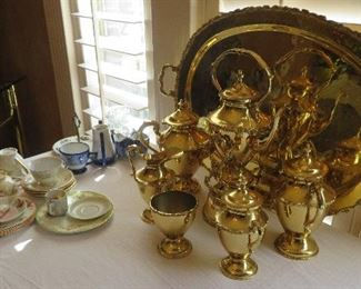 Gold plated coffee/tea service