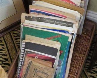 Sheet music - sacred and secular