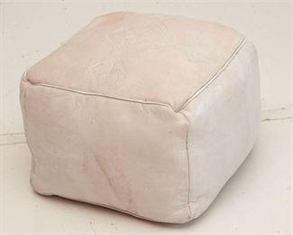 4. Embossed Leather Ottoman