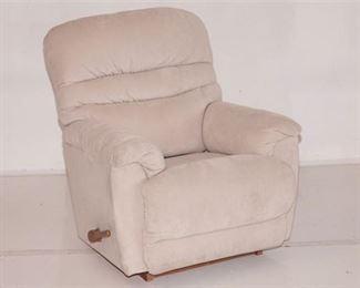6. Light Pink Upholstered Recliner