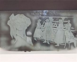9. The New Woman Etched Glass Art