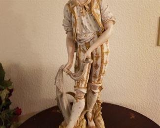 Jaccard St. Louis Bisque Porcelain Statue