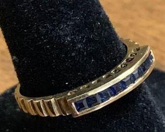 14K Gold & Sapphire Ring https://ctbids.com/#!/description/share/27122014KP