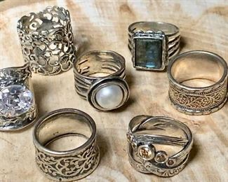 Silver Rings from Israel https://ctbids.com/#!/description/share/271232