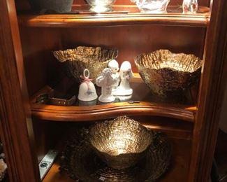 beautiful textured glass bowls