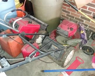 MOWER, SNOW BLOWER.... BUT ALSO ON THE NOV . 12TH SALE FOR ONE DAY ONLY AT ANOTHER LOCATION, WE HAVE A VINTAGE MOWER AND TILLER AND TONS OF OTHER OLD TOOLS!