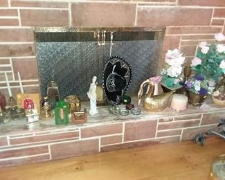 FIREPLACE WITH SOME MASONIC ITEMS AS WELL AS A MASONIC HAT AND APRON. AND TAKE A LOOK AT THAT SOMBRERO, WE GOT 2 OF THEM!