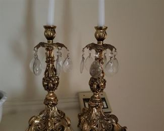 Brass prism candle holders