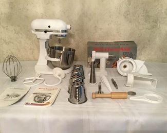 KitchenAid Heavy Duty Mixer and Attachments