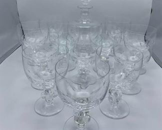 Lalique Glasses and Wine Decanter