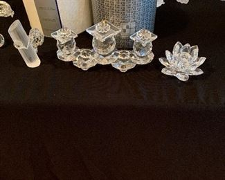 Swavorski Crystal candle holders