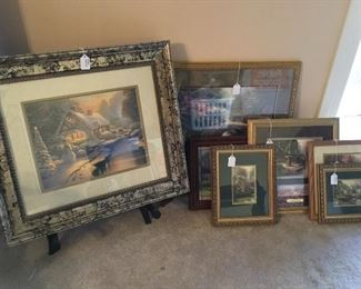 Lots of Thomas Kincaid collectibles and artwork (much of it not pictured)