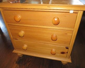 Pine 3 Drawer Chest - End Table Ethan Allen