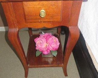 Single Drawer End Table ( there is a pair)