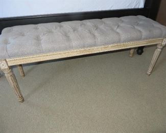 Country French Tufted Bench
