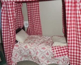 American Girl Felicity Poster Bed with Bedding