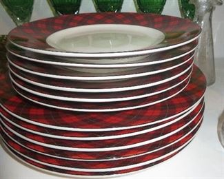"""Christmas Plaid"" Holiday Dinnerware 222 Fifth Avenue China"