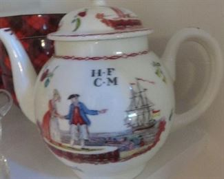 Liverpool Lenox Smithsonian Collection 1981 Reproduction Teapot