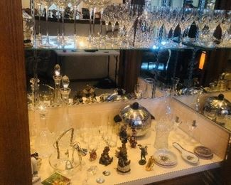 Great Selection of Bar and glass wear including Waterford glasses and decanters