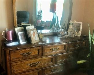 French Dresser and Mirror